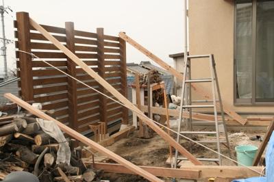 薪棚背面工程