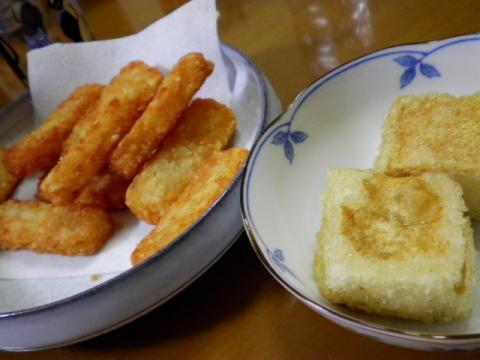 ポテトと揚げだし豆腐
