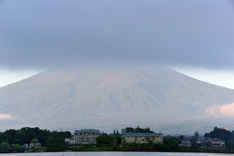 上隠れ富士の山
