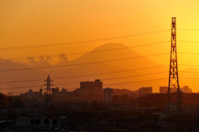 夕日富士2