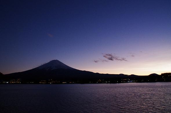 河口湖・夕方