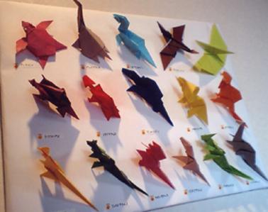 クリスマス 折り紙:折り紙 恐竜-mamacharian.blog12.fc2.com