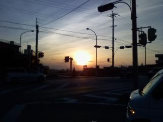 10日・夕陽