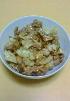 キャベツと豚肉のこっくり炒め