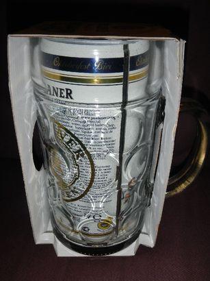 パウラナー オクトーバーフェスト ビア 1L缶&グラス セット (2)
