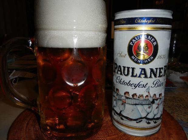 パウラナー オクトーバーフェスト ビア 1L缶&グラス セット (5)
