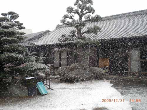 2009.12.31.大晦日、雪降り始め