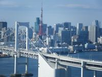 レインボウブリッジ&東京タワー