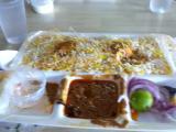 エッグビリヤニ(ハイデラバードの とある会社の食堂)