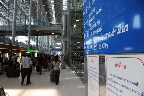 スンナプーム空港到着出口付近
