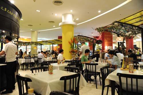 デパートのレストラン