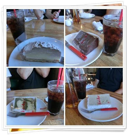 250916各種ケーキとアイスコーヒー