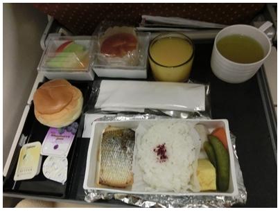 シンガポール航空機内食(和朝食)
