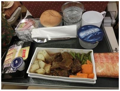 250927シンガポール航空機内食(lunch)2