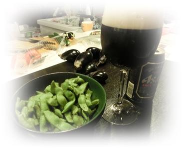 野菜と黒ビール