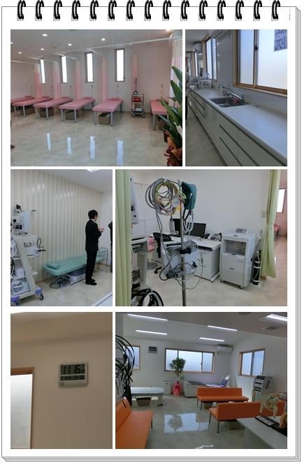 診察室とリハビリ室