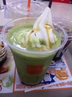 黒みつ抹茶フロート ¥320