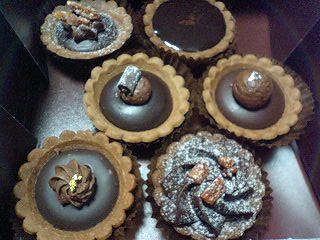 Tartelettes chocolats  タルトレット ショコラ プティサイズのタルトレット3種(マダガスカル、アラグアニ、ヴェネズエラ)