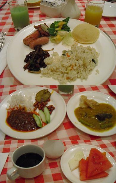 マラッカ・ホテルの朝食