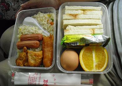 マレー鉄道・持ち込み弁当