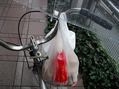 2 傘さして自転車