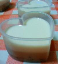 milk小豆プリン