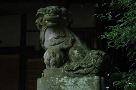 村社神明社の庚申塔
