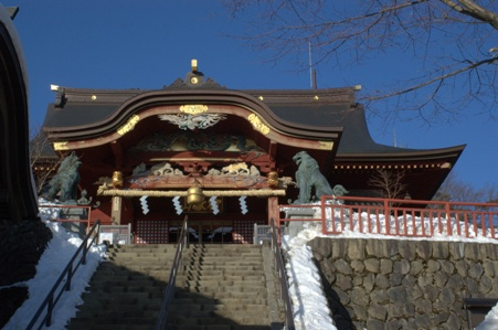 御嶽神社拝殿への階段
