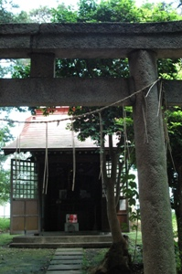 坂本稲荷神社の鳥居と社