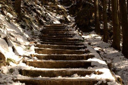 日の出山への登山道