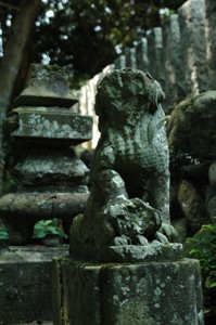 草花神社の狛犬
