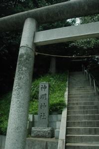 程久保神明社の鳥居