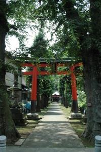 鈴木神社の参道