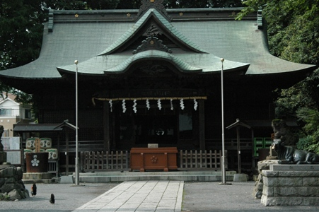 谷保天満宮の拝殿
