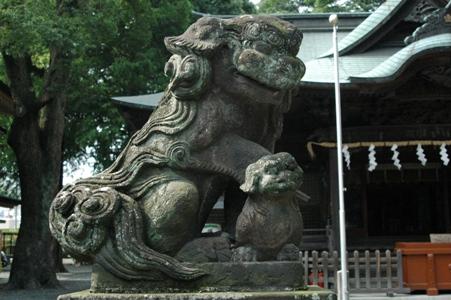 谷保天満宮の狛犬