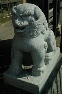 桜井門前の狛犬