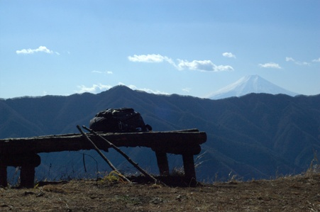 富士を眺めながら休憩