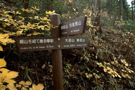 御前山への道標