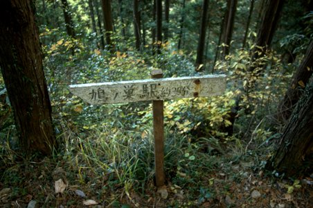 鳩ノ巣への道標