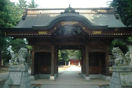 小野神社の山門?