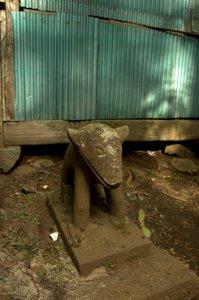 大岳神社の狛犬ん行
