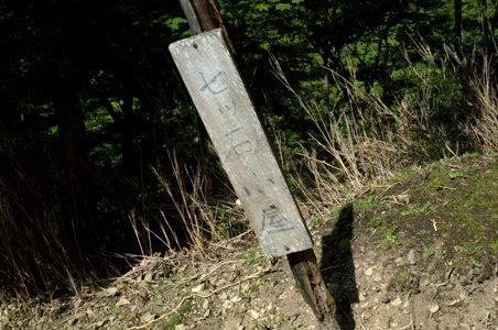 七ツ石山への道標