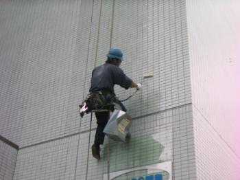 ビル壁清掃