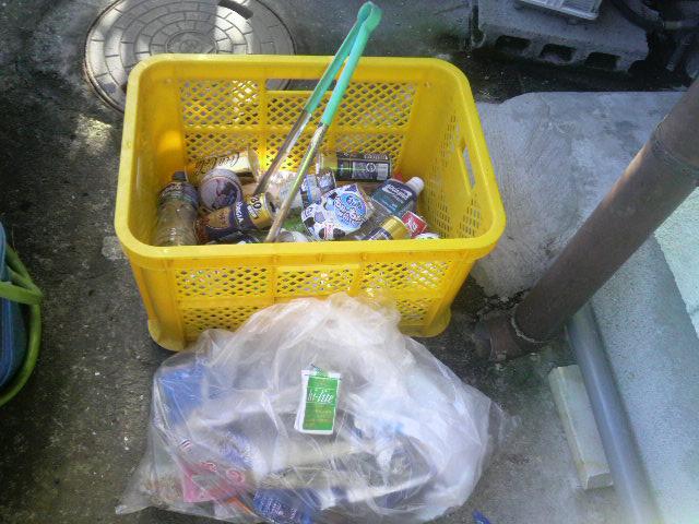 8月6日のゴミ拾いジョグ