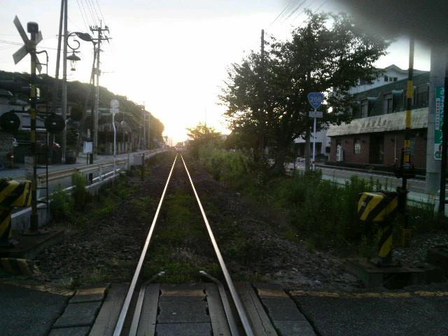 9月2日 JR三角線の一番電車