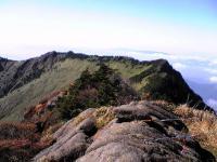 石鎚山頂上からの素晴らしい眺め1