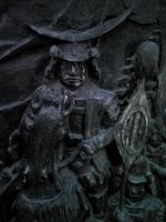 仙台城跡伊達政宗公の銅像5