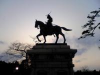 仙台城跡伊達政宗公の銅像4