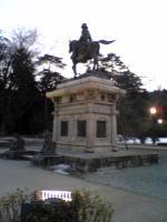 仙台城跡伊達政宗公の銅像2