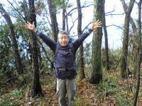 佐柳島のピークでバンザイ3